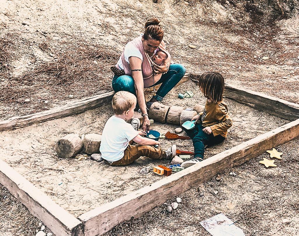 Arenal para niños